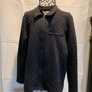 LL Bean full zip quilted jacket